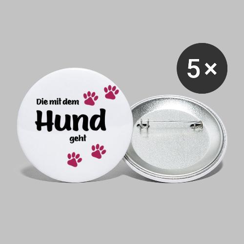 Die Mit Dem Hund Geht - Edition Colored Paw - Buttons klein 25 mm (5er Pack)