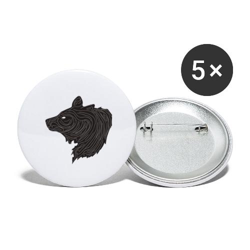 Bear - Buttons small 1''/25 mm (5-pack)