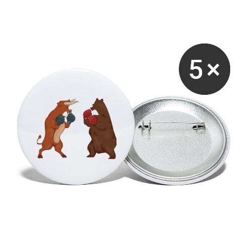 Bull and bear - Buttons small 1''/25 mm (5-pack)
