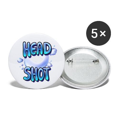 icelapHeadShot - Buttons klein 25 mm (5er Pack)