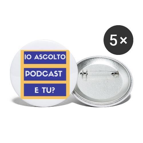 Ascolto podcast 2 - Confezione da 5 spille piccole (25 mm)