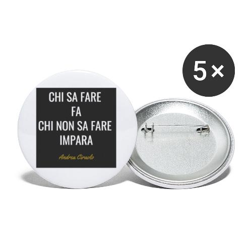 Ciraolo - Confezione da 5 spille piccole (25 mm)