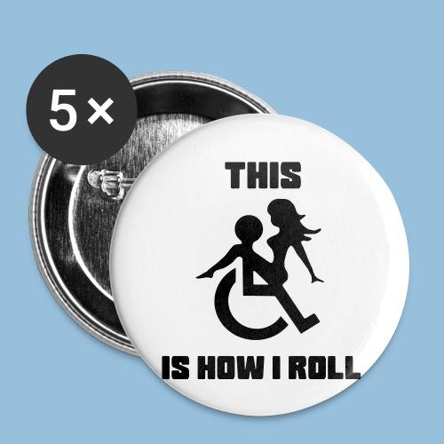 Howiroll9 - Buttons klein 25 mm (5-pack)