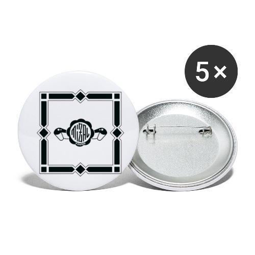Quality Control by MizAl - Lot de 5 petits badges (25 mm)