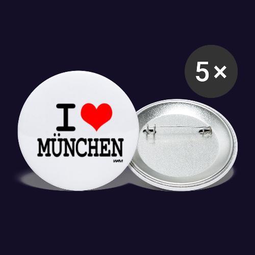 Mün - Buttons klein 25 mm (5er Pack)