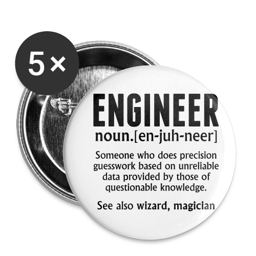 ENGINEER - Buttons small 1''/25 mm (5-pack)