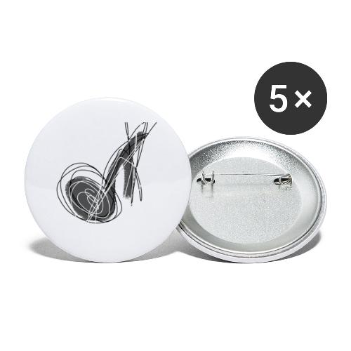 MUSIC NOTE ABSTRACT - Buttons klein 25 mm (5er Pack)