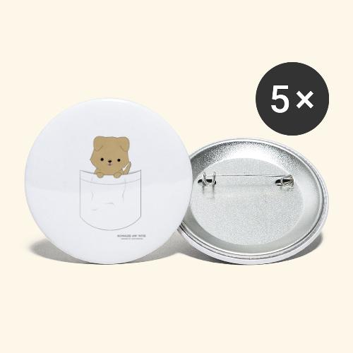 Hund in Tasche - Buttons klein 25 mm (5er Pack)