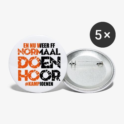 Normaal doen hoor - Buttons klein 25 mm (5-pack)