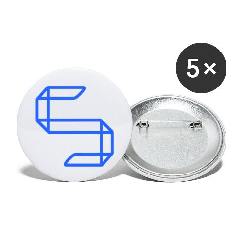 A S A 5 or just A worm? - Buttons klein 25 mm (5-pack)