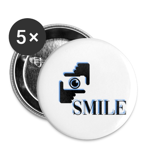 Smile - Lot de 5 petits badges (25 mm)