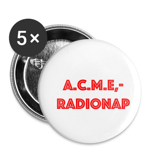 acmeradionaprot - Buttons klein 25 mm (5er Pack)