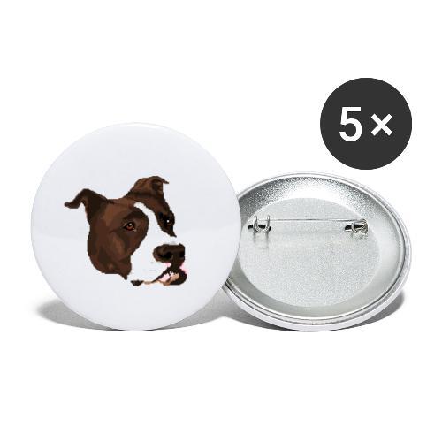 Pitbull - Przypinka mała 25 mm (pakiet 5 szt.)