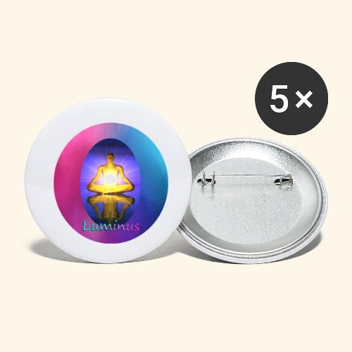 Luminus - Buttons klein 25 mm (5er Pack)