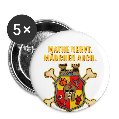 Wappen - Buttons klein 25 mm (5er Pack)