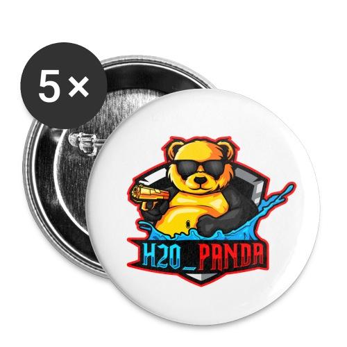 Pandas Loga - Små knappar 25 mm (5-pack)