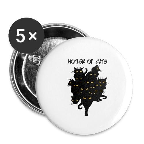 the mother cats - Confezione da 5 spille piccole (25 mm)