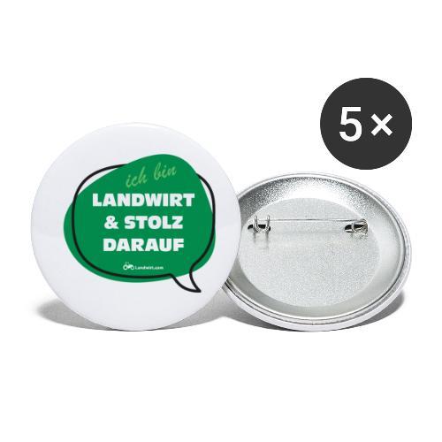 Landwirt und stolz darauf - Buttons klein 25 mm (5er Pack)