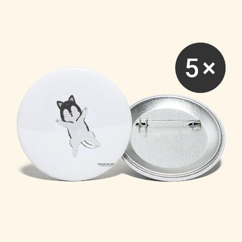 Husky Dog at snow - Buttons klein 25 mm (5er Pack)