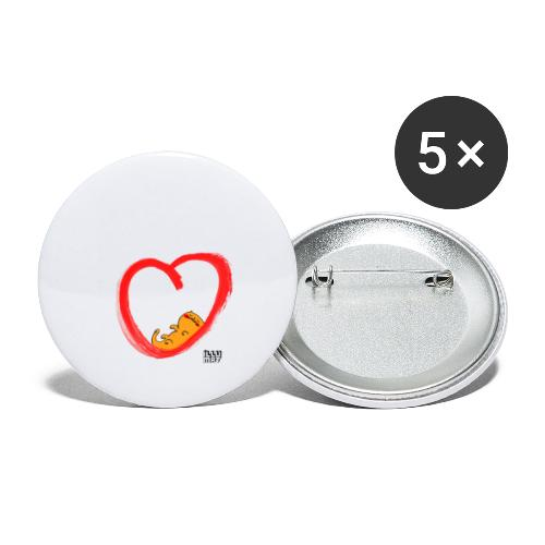 LYD 0003 04 KittyLove - Buttons klein 25 mm (5er Pack)