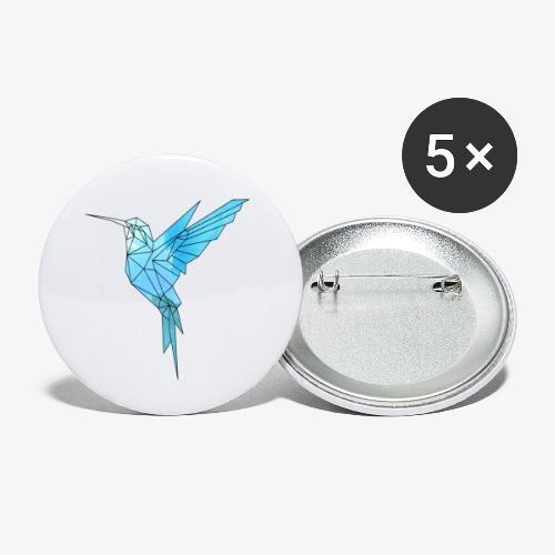 Kolibri Geometrisch - Buttons klein 25 mm (5er Pack)
