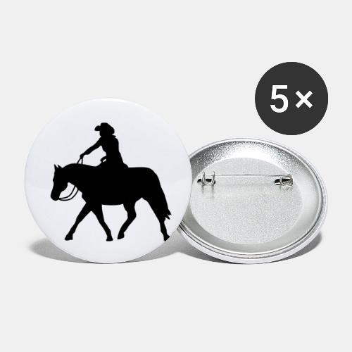 Ranch Riding extendet Trot - Buttons klein 25 mm (5er Pack)