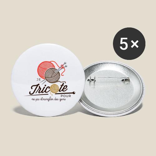 Tricot - Lot de 5 petits badges (25 mm)