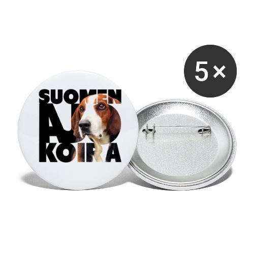Suomenajokoira II - Rintamerkit pienet 25 mm (5kpl pakkauksessa)