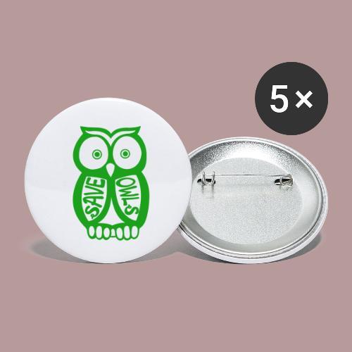 Save owls - Lot de 5 petits badges (25 mm)