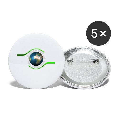 LOGO white font - Buttons small 1''/25 mm (5-pack)