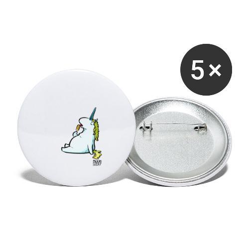 STE 0006 00 Eis Einhorn - Buttons klein 25 mm (5er Pack)
