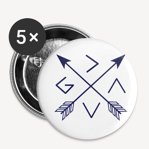 GOD IS GREATER THAN THE HIGHS AND LOWS - Buttons small 1''/25 mm (5-pack)