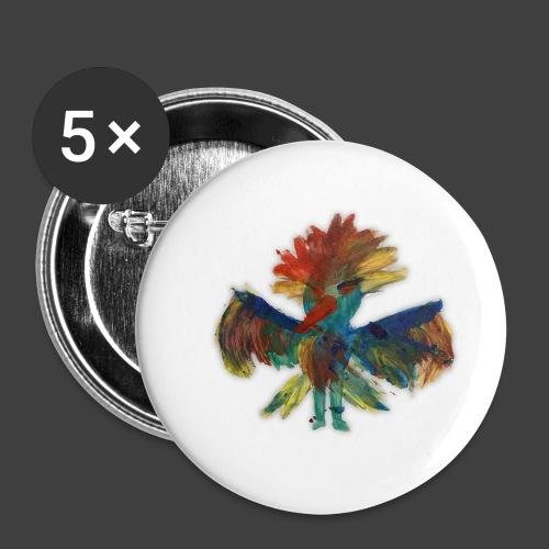 Mayas bird - Buttons small 1''/25 mm (5-pack)