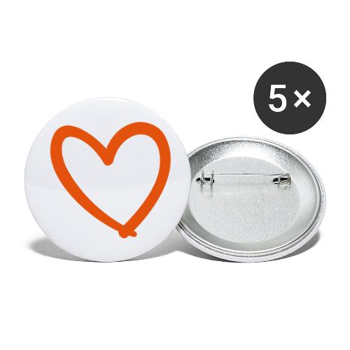 Heart Lines Pixellamb - Buttons klein 25 mm (5er Pack)