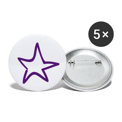 Star Outline Pixellamb - Buttons klein 25 mm (5er Pack)