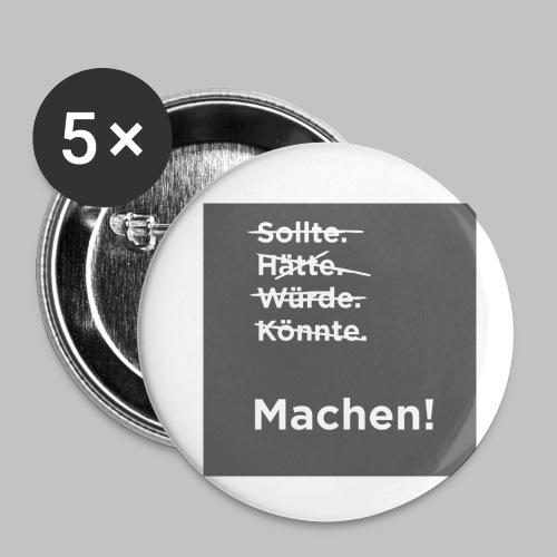 Machen - Buttons klein 25 mm (5er Pack)