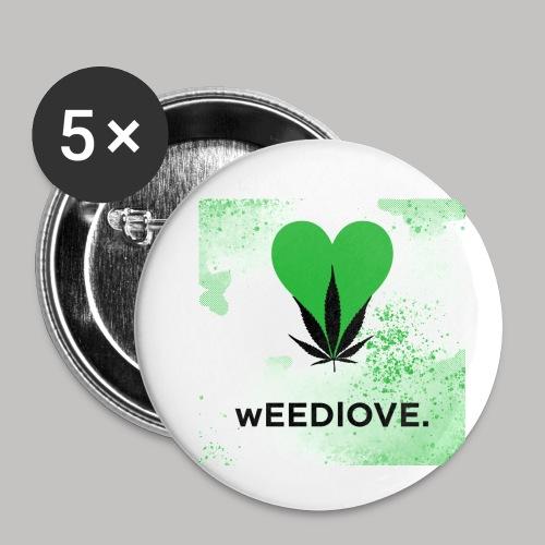 weedlove - Buttons klein 25 mm (5er Pack)