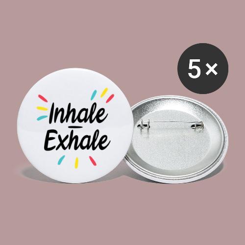 Inhale exhale yoga namaste - Lot de 5 petits badges (25 mm)