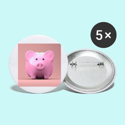 piggy - Buttons small 1''/25 mm (5-pack)