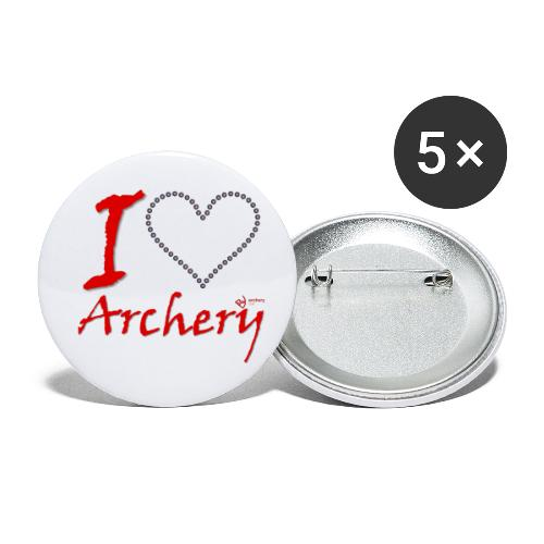 Archery Love - Buttons klein 25 mm (5er Pack)