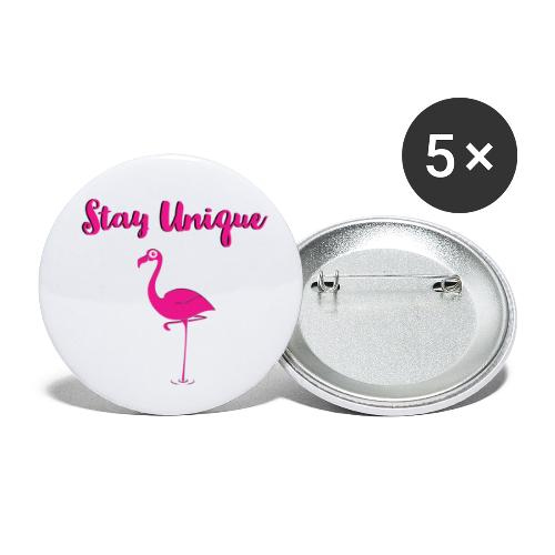 Stay Unique Flamingo - Buttons klein 25 mm (5er Pack)