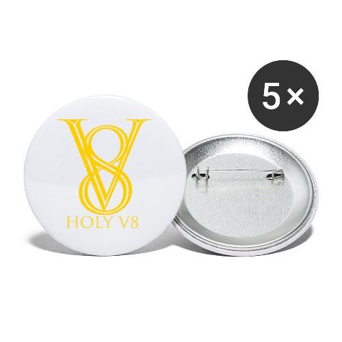 Holy V8 - Buttons klein 25 mm (5er Pack)