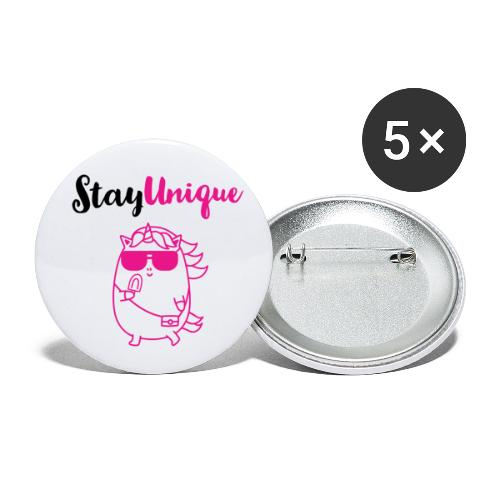 Stay Unique - Buttons klein 25 mm (5er Pack)