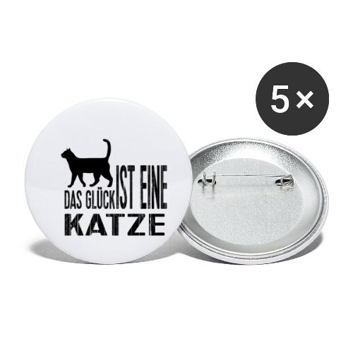 Katze Katzenliebe Cat Katzenglück Geschenkidee - Buttons klein 25 mm (5er Pack)