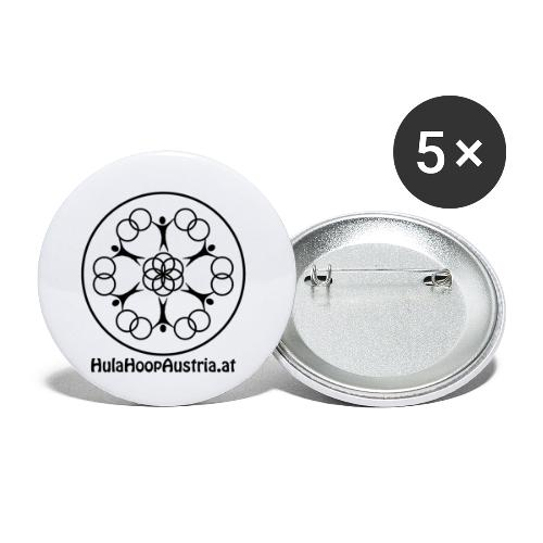 Hula Hoop Austria Logo Black - Buttons klein 25 mm (5er Pack)