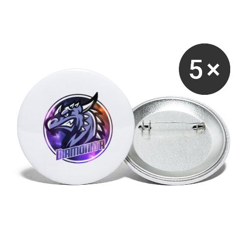 DIa Logo - Buttons/Badges lille, 25 mm (5-pack)
