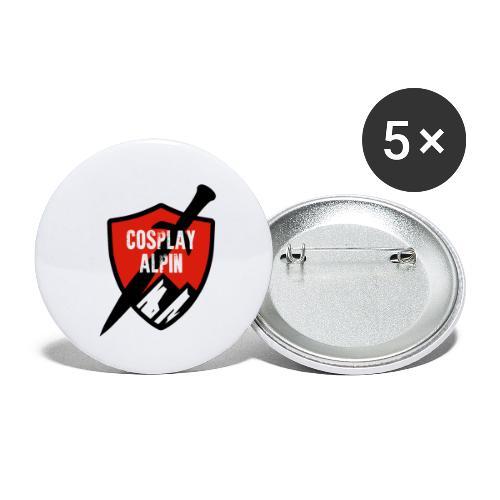 Cosplay Alpin Logo - Buttons klein 25 mm (5er Pack)