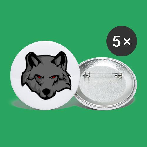wolf logo - Confezione da 5 spille piccole (25 mm)