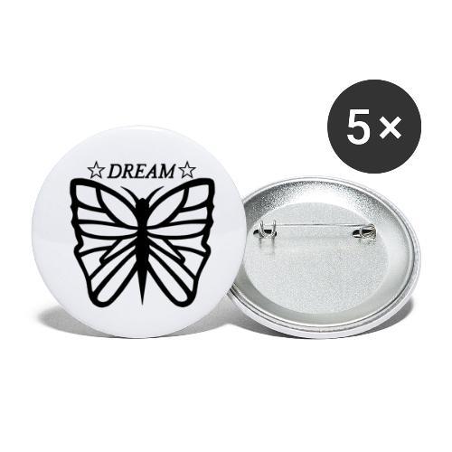 Ett motiv föreställandes en fjäril. - Små knappar 25 mm (5-pack)