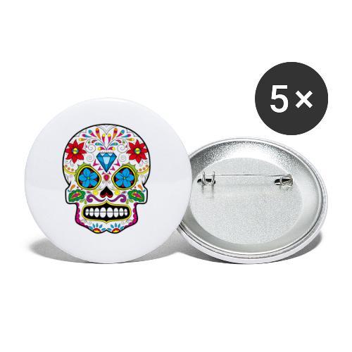 skull5 - Confezione da 5 spille piccole (25 mm)